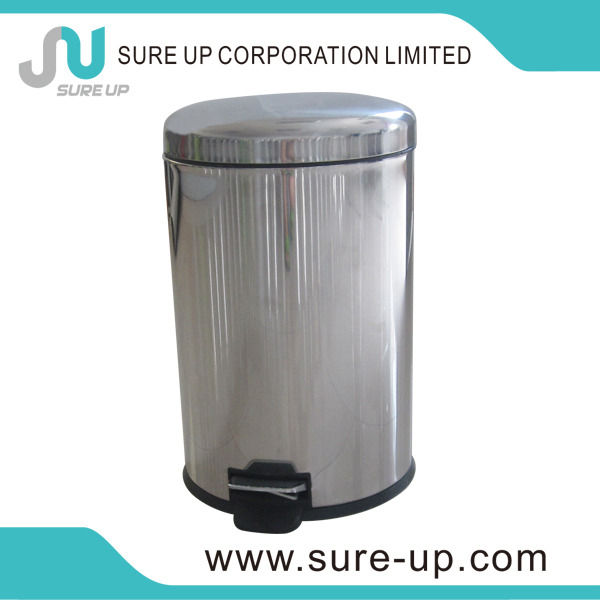 Hot sale stainless steel waste bin with push cover (DSUC)