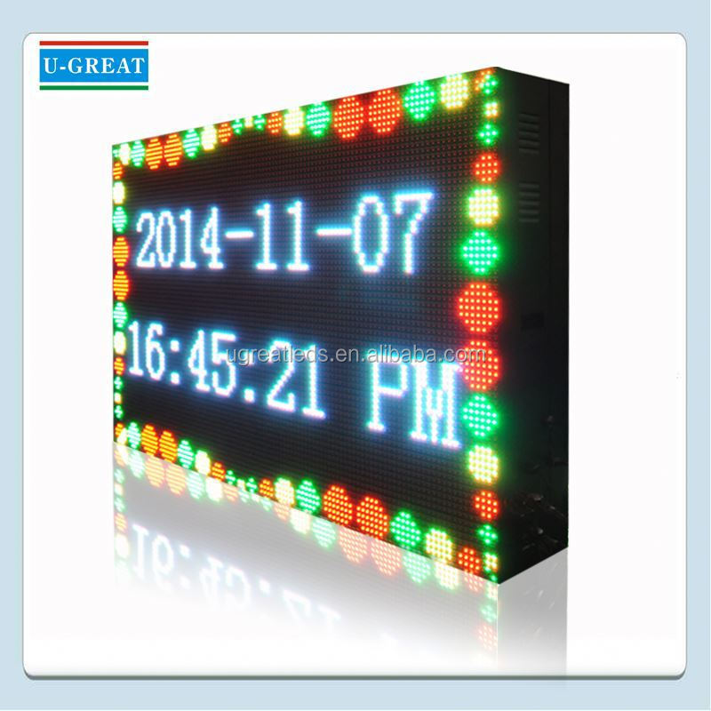 china HD outdoor advertising pillar mounted led sign displays