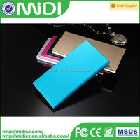 2016 high capacity Slim dual USB with light 10000mah solar power bank for all mobile phone