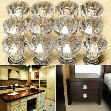 Bk1014 Acrylic + Zinc Alloy Crystal Glass Door Knobs Drawer Cabinet Furniture Kitchen Handle for Bedroom Drawer Cupbroad
