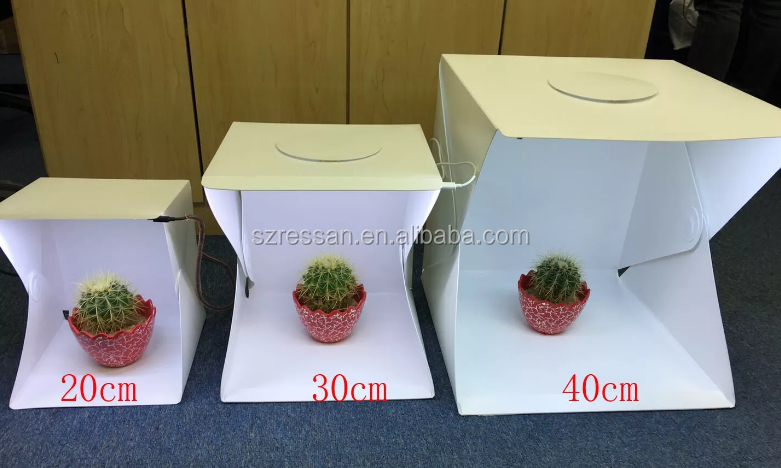 Folding Portable Lightbox LED photo studio kits photography equipment LED Room Table Top Shooting for mobile and camera