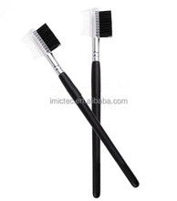 Custom Logo Bristle Hair Eyebrow Comb, Brow Brush and Lash Comb, Pro Cosmetic Eyebrow Brush Comb