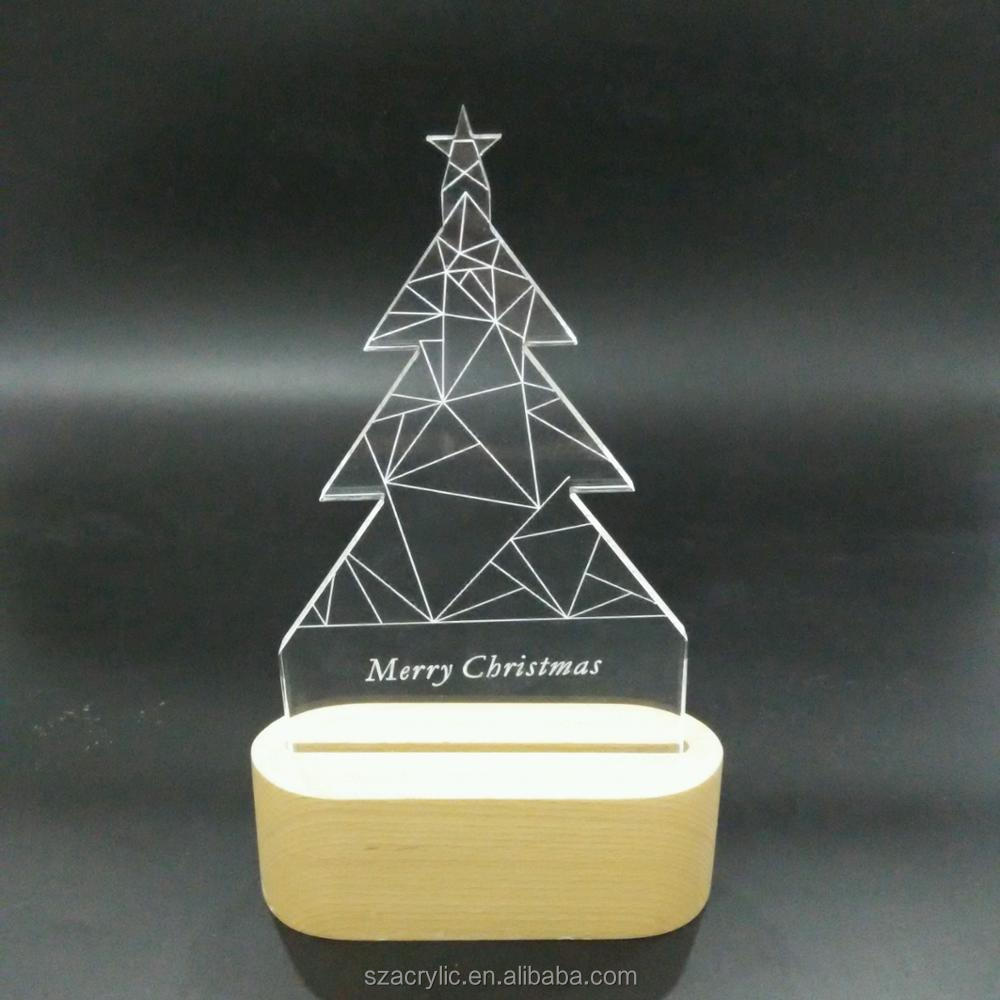 Acrylic Christmas tree 3D LED light acrylic Christmas decoration 3d lamp