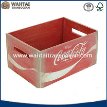 Vintage Inspired large CC crate,metal banding,routed handles,faemhouse decor,wholesale,industrial