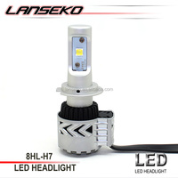 Powerful waterproof 40W per bulb led car headlight single beam H7 led headlight conversion kit