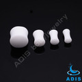 Factory price piercing jewelry white acrylic flesh tunnel earrings plugs