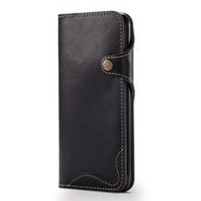 Fashionable Vintage Custom Luxury Genuine Leather Phone Case for iPhone 6 6s Plus Wallet Case