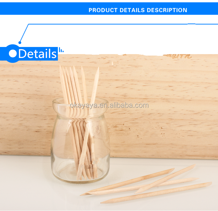 1000Pcs wood stick pedicure wooden stick disposable manicure wood stick for nail salon