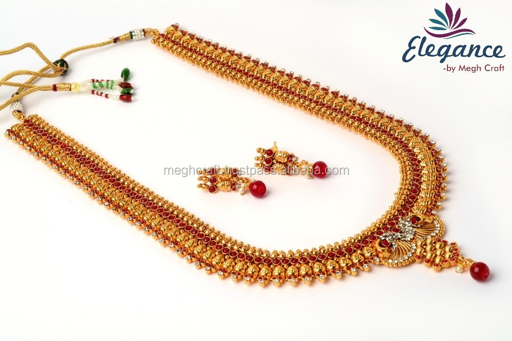 South indian long set jewellery -briadl rani haar -one gram gold plated indian long haar