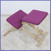 New Design adjustable ASH wood Ergonomic Office Kneeling Poster Chair for backache people/student