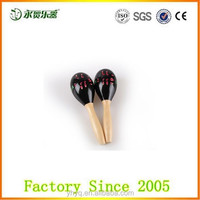 Funny baby wooden mini maracas,Music instrument mini maracas,colorful custom toy mini maracas