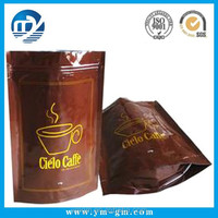 Customized aluminum foil coffee bag, Self-supporting bag packaging, Food package