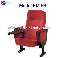 FM-64 Folded chair for meeting room with writing table