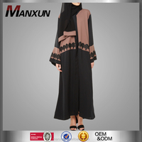 Kaftan Maxi Dress for Muslim Women Wear with Lace Decoration Muslim Jubah 2016 Designer