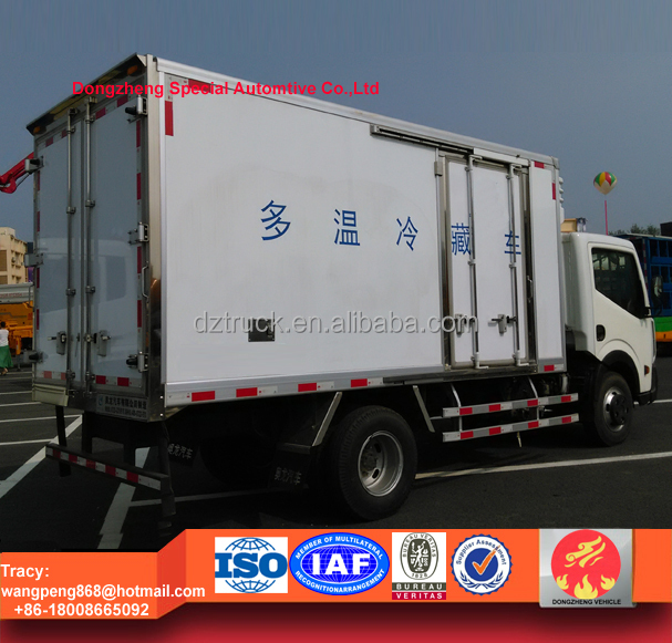 Nissan cold van truck, Nissan freezer box truck, 5 ton cooling truck for sale