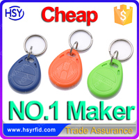 Home security passive plastic iso 14443a rfid smart tags print rfid key tag