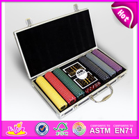 300 Pcs Wooden Poker Chip Sets gambling set,hot selling poker set KT29114