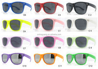 2014 Promotional neon custom plastic sunglasses