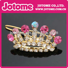 Beautiful Alloy imperial crown Rhinestone buckle for invitation card