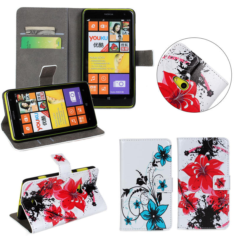 Hot Pattern Flip Case for Nokia Lumia 625 Back Cover, for Nokia Lumia 625 Flip Case with Card Slot Leather