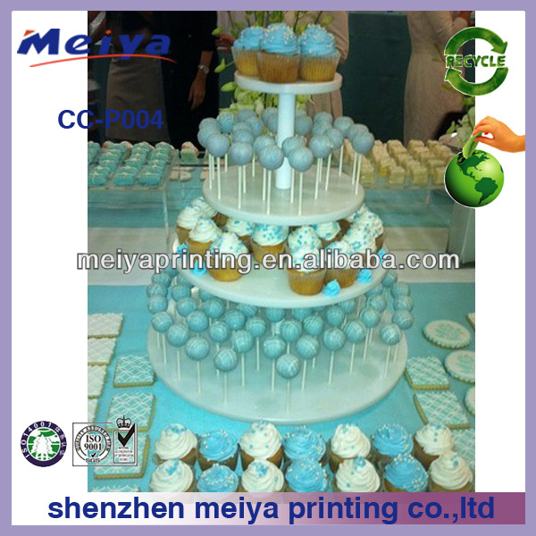 new stytle mini cupcake exhibition cardboard stand,fashion design multilayer cake standee