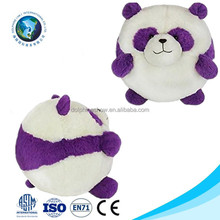 Customized cute cheap plush panda ball toy fashion purple soft stuffed panda toy