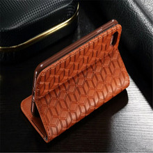 for iphone 5 5s real leather flip case with wallet credit card holder ,for iphone 5 Genuine leather case Diamond pattern