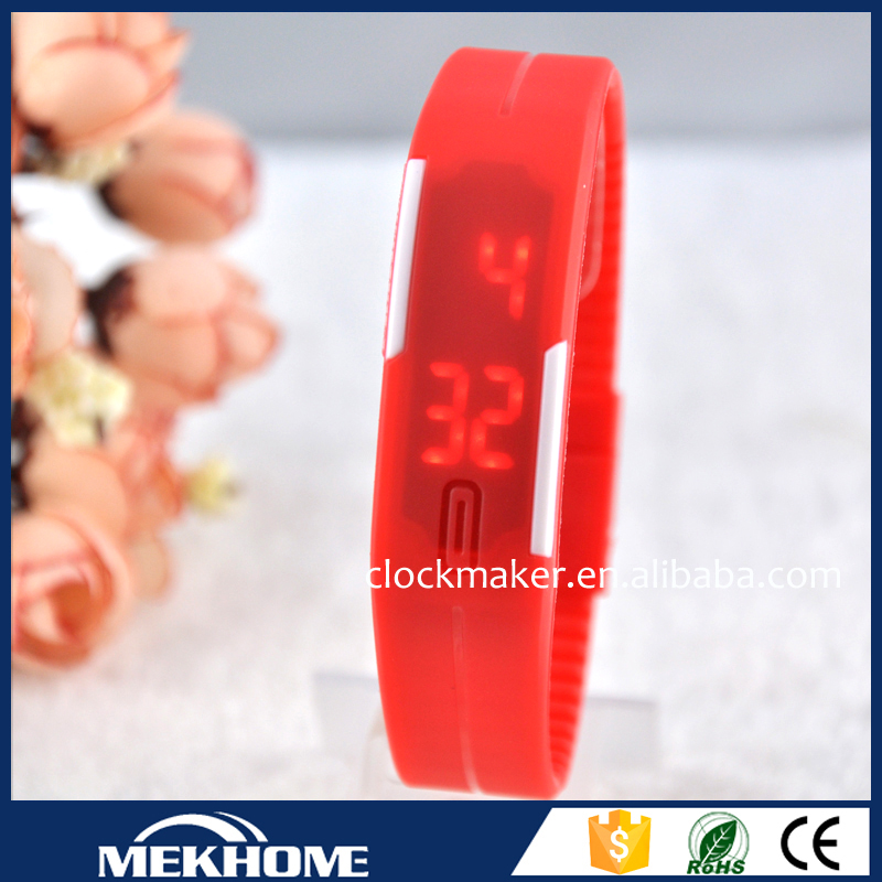 Highly Welcomed led watch silicone, waterproof silicone bracelet watch