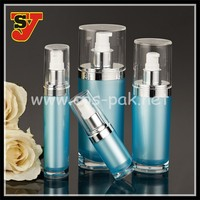 China Supplier Round Shape White Plastic Bottle and Make Up 15ml 30ml 50ml 100ml 120ml Acrylic Lotion Bottle Cosmetic