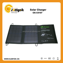 High Quality Waterproof 7W portable Solar cell phone Charger for sale