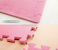 Eva foam Combination pink & beige colourful non slip green and safe textured kids floor mat large size 60*60cm