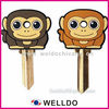 monkey animal rubber key head cover