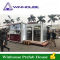 structure steel coffee shop mobile container house for coffee shop container cafe guangzhou