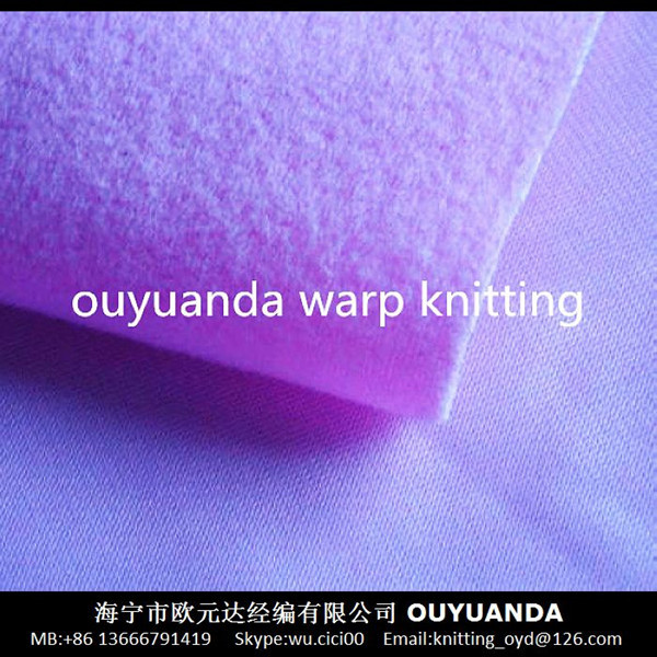 100% polyester warp knitting tricot velvet loop hook fabric