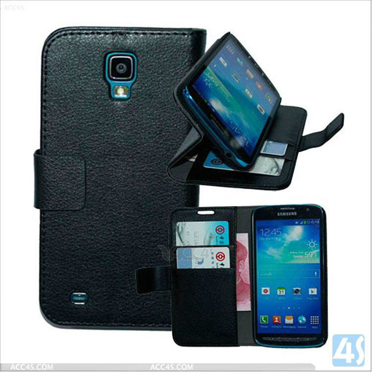 Stand wallet PU leather case for Samsung i9295 Galaxy S4 Active P-SAMI9295CASE001