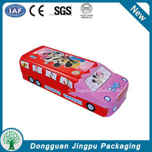 Special car shaped metal fancy pencil car gift tin box