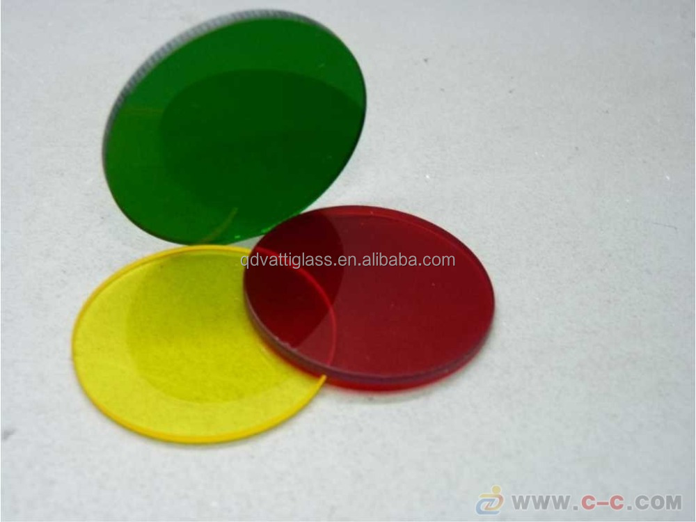 Custom sizes and shapes single crystal colored optical lenses colored glass manufacturers