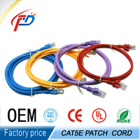 rj45 UTP FTP SFTP CAT5e 24awg cable cat6 flat patch cord cable