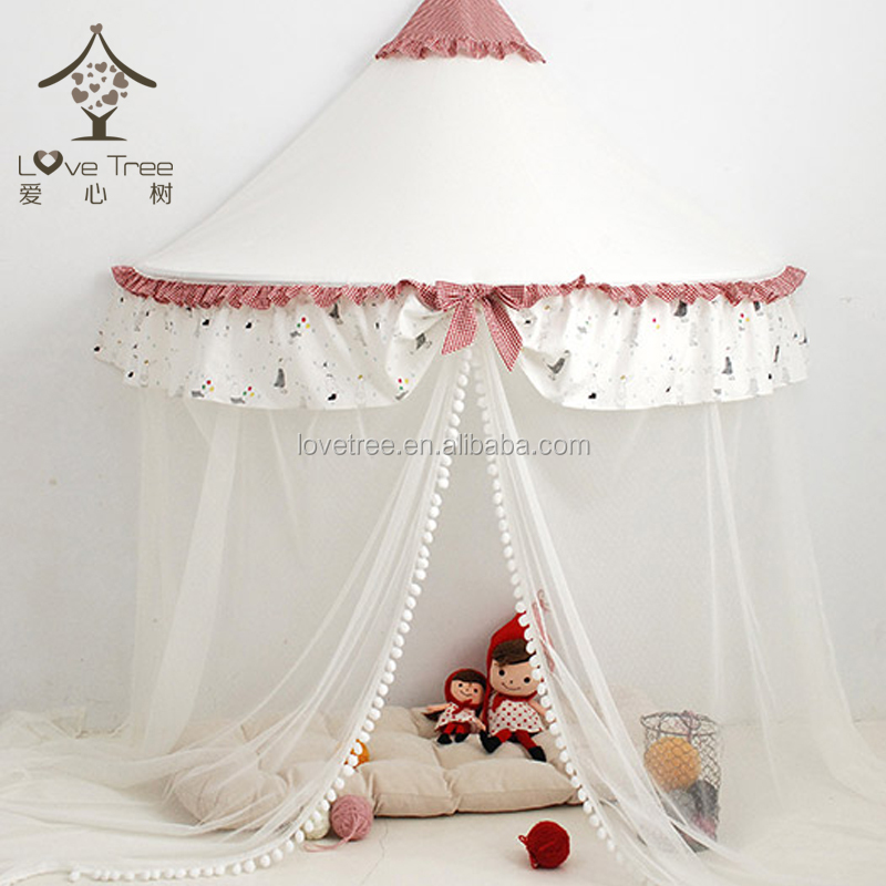 Ningbo Lovetree China Cotton Bed Lace Canopy Bed Curtains