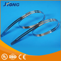 Factory Best hook and loop ladder type stainless steel cable tie with Multi Lock Type