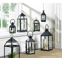 Metal candle holder lantern