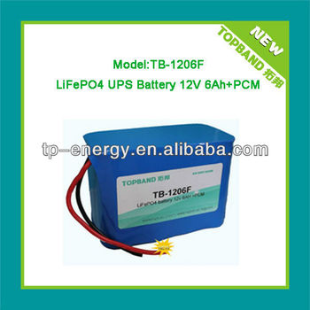 TOPBAND Amazing lithium ups battery 12v 6ah(one stop solution)