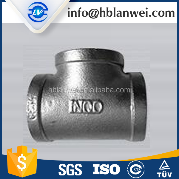 Hot dipped galvanized Malleable Iron fittings Tee