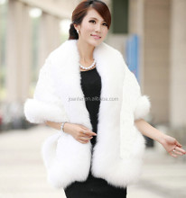 PC-14Europe women hot sale imitation fur collar hooded Knitted cardigan Cloak shawls coat