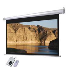 OEM cheap price traditional matte white remote electric projection screen