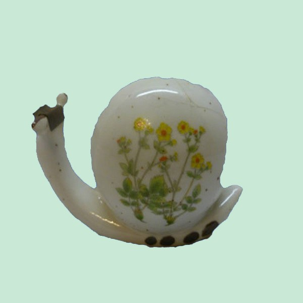 Cute Vtg Old Ceramic Snail Figurine Tape Dispenser Holder Office Desk