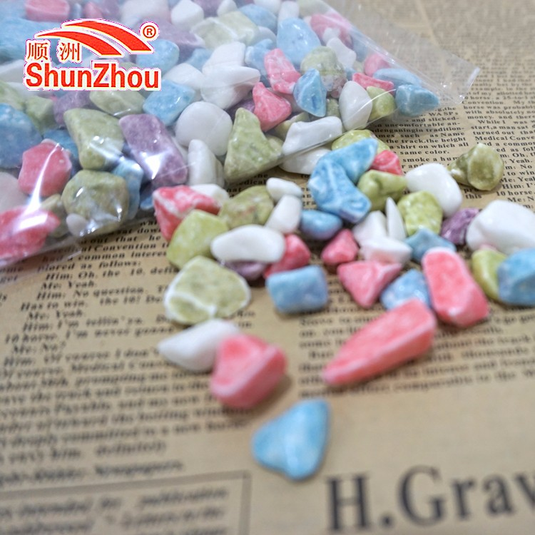 500g bag package colorful chewy milky rock candy