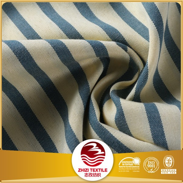 Stripe design polyester cotton t shirt fabric