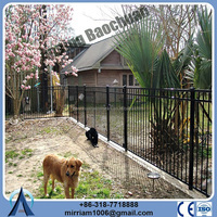 Rotatable galvanized powder coated steel fence(factory sale and export)