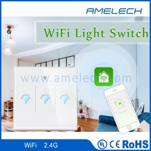 220v wireless remote control wifi app control smart home touch light wall on off switch
